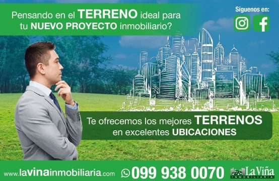 Terreno en venta Pifo via Interoceanica ideal negocio